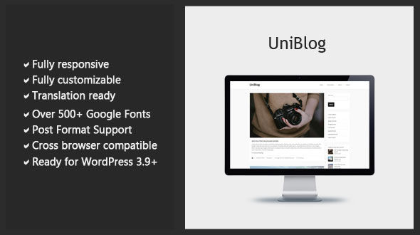 Uniblog – Responsive Blog WordPress Theme