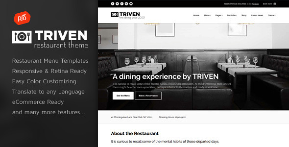 Triven – Restaurant & Winery Theme