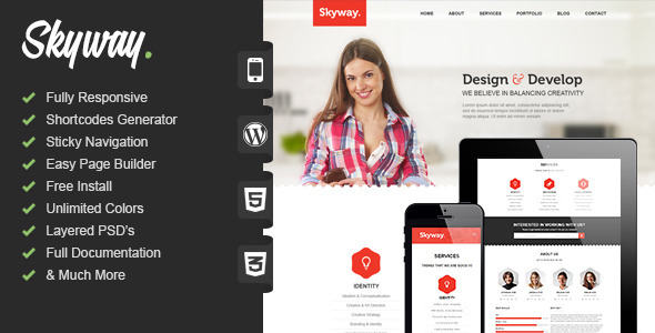 Skyway – Multipurpose One Page WordPress Theme