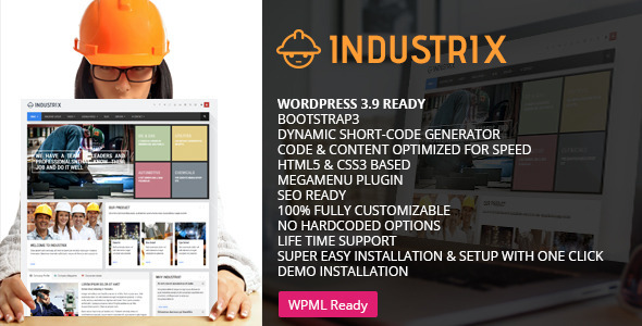 Industrix Multipurpose WordPress Theme