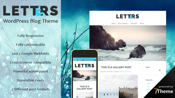 Letters – WordPress Blog Theme