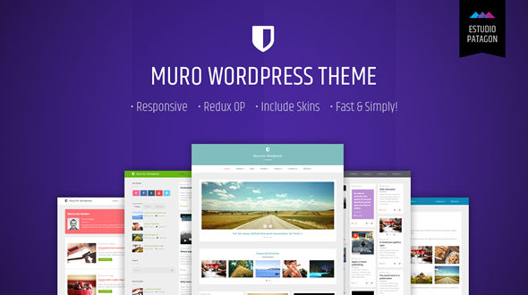 Muro a responsive masonry blog for WordPress