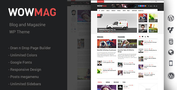 WowMag – Blog and Magazine WordPress Theme