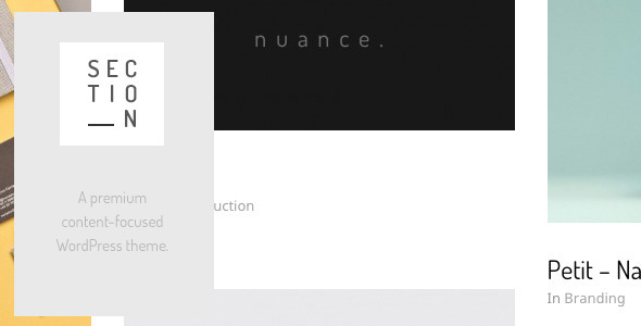 Section – Responsive Portfolio Theme
