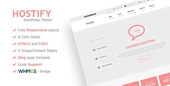 Hostify – Responsive WordPress Hosting Theme