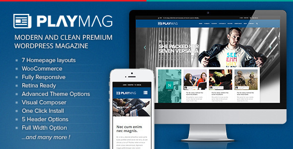 PlayMag – Creative Magazine & Shop WordPress Theme