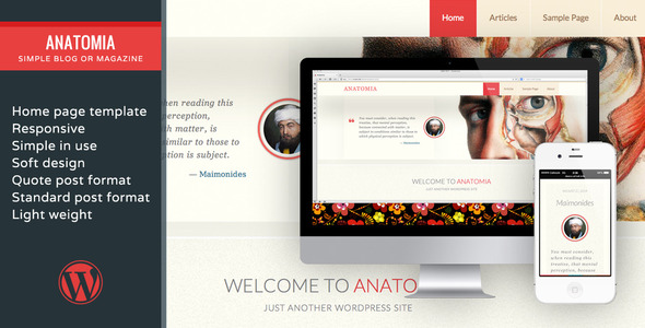 Anatomia–Simple Blog Or Magazine