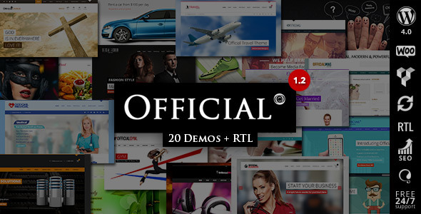 Official – Multipurpose WordPress Theme