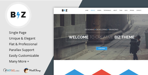 Biz – Multipurpose Business and Corporate Theme