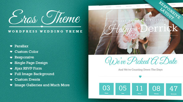 Eros – WordPress Wedding Template and Blog
