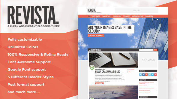 Revista – A Clean and Elegant Blogging Theme