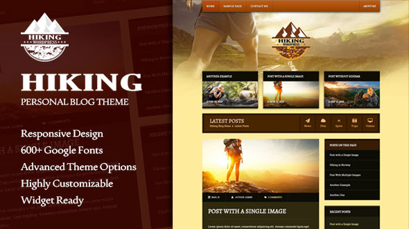Hiking | Responsive Personal Blog Theme
