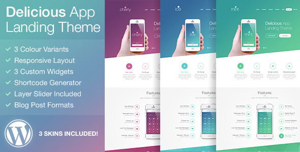 Delicious – Responsive App Landing WordPress Theme