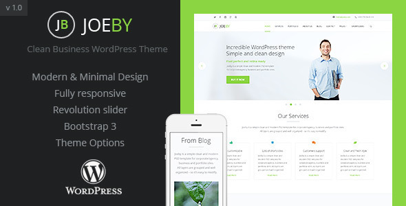JoeBy Clean Business WordPress Theme