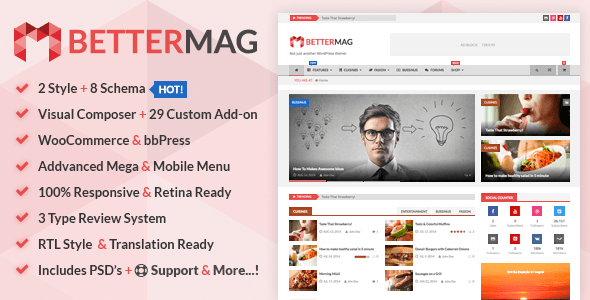 BetterMag – Magazine, Review, Shop WordPress Theme