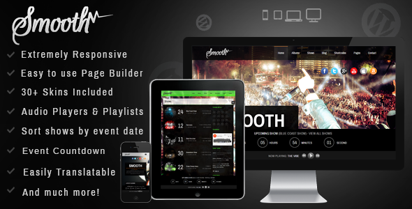 Smooth – Responsive Full Screen Music Theme