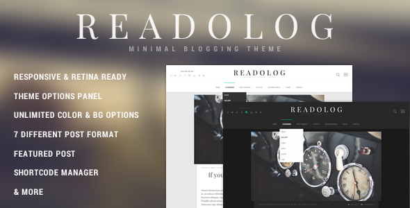 Readolog – Minimal Blogging Theme
