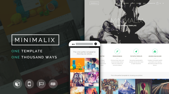 MinimaliX – Creative Multi-Purpose WordPress Theme