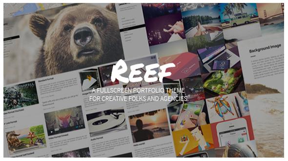 Reef: Responsive Fullscreen Portfolio WP Theme