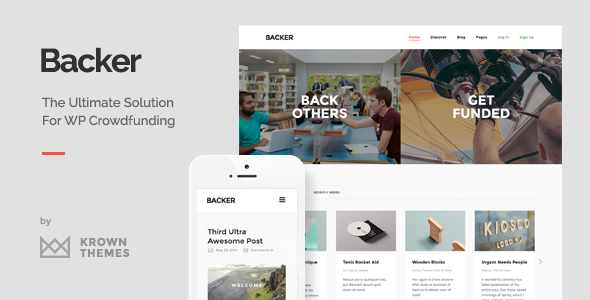 Backer – The Modern WordPress Crowdfunding Theme
