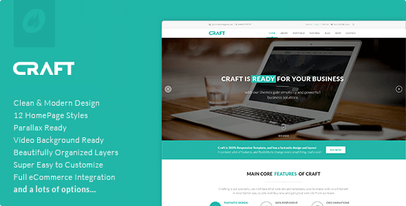 Craft – Multipurpose & Responsive WordPress Theme