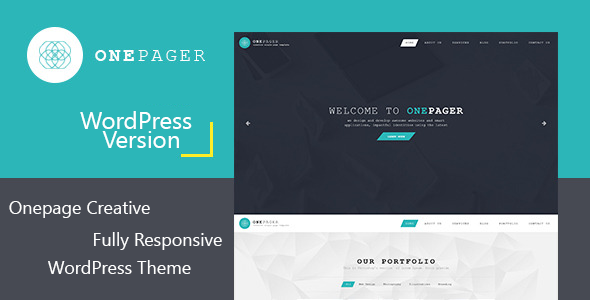 Onepager – Responsive One Page WordPress Theme