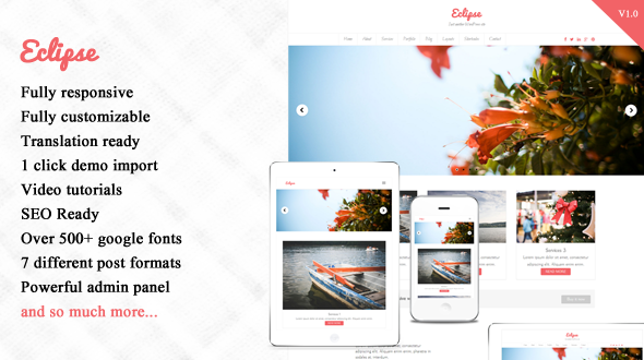 Eclipse – Responsive WordPress Theme