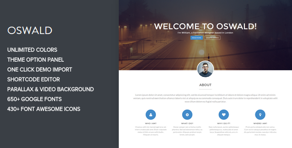 Oswald – Creative WordPress Portfolio Theme