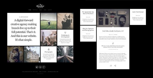 Bleecker – Responsive Retina-Ready WP Portfolio