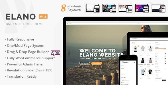Elano – Multi-Purpose Business & Ecommerce WordPress Theme