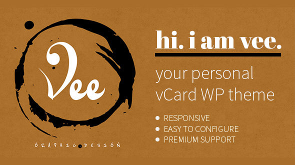 VeeCard – Clean Retro vCard WordPress Theme