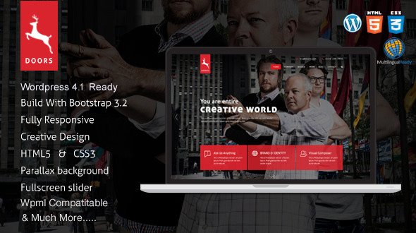 Doors – Parallax Responsive One Page wordpress theme
