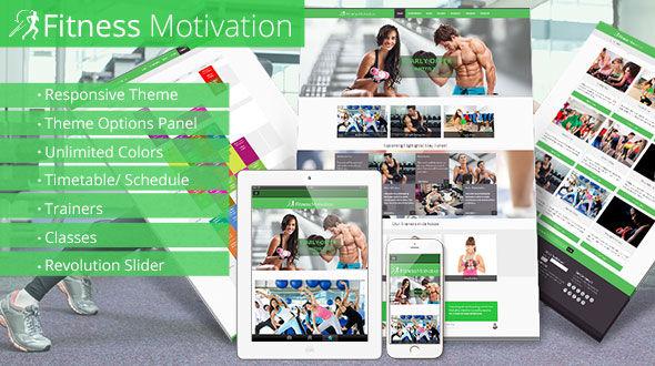Fitness Motivation – Fitness / Gym / Sports Responsive Theme