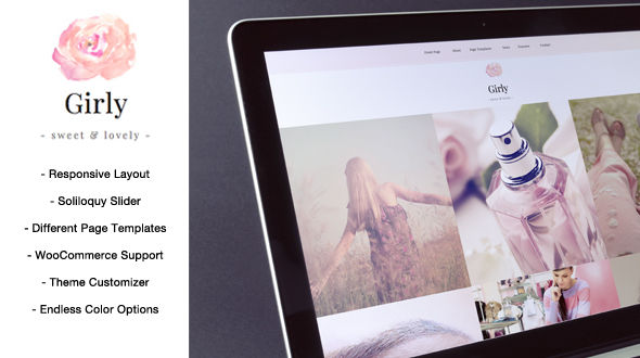 Girly – A Stylish Blog & Magazine WordPress Theme