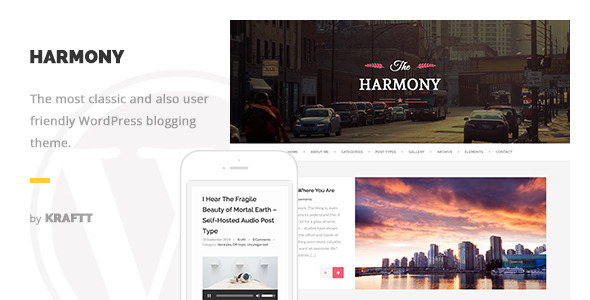 Harmony – Clean Responsive WordPress Blog Theme