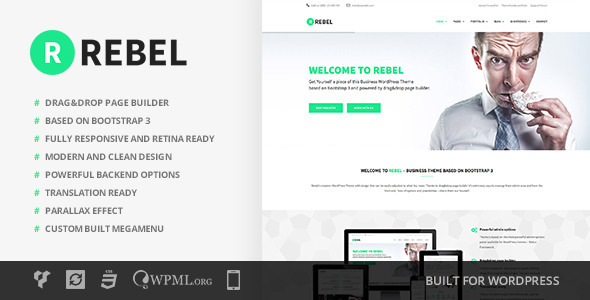 Rebel – WordPress Business Bootstrap Theme