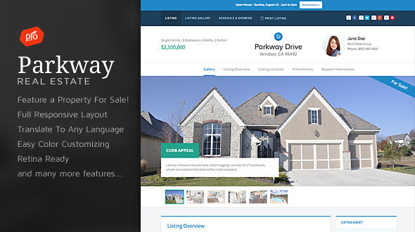 Parkway – Single Property WordPress Theme