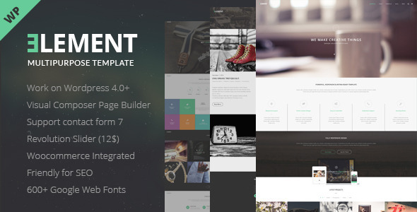 Element – Responsive Multipurpose WordPress Theme
