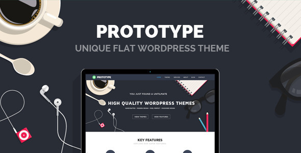 Prototype – Premium Flat WordPress Theme