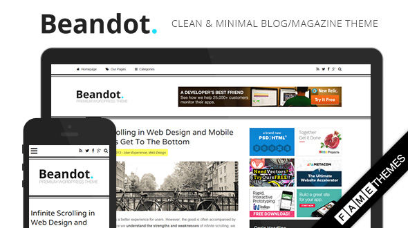 Beandot – Minimal Blog WordPress Theme