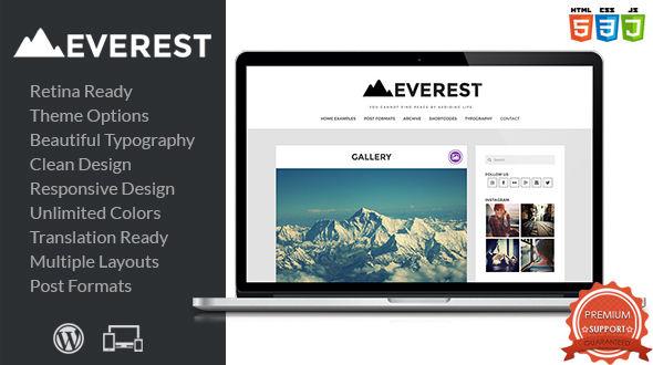 Everest – Responsive WordPress Blog Theme