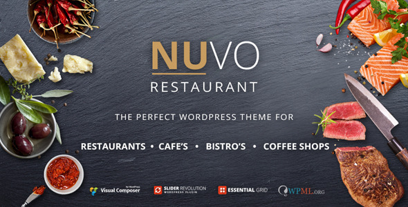 NUVO – Restaurant, Cafe & Bistro WordPress Theme