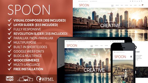 Spoon – Multipurpose Responsive WordPress Theme
