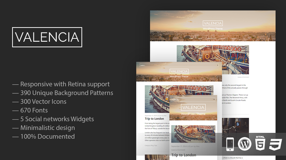 Valencia – Responsive WordPress Theme