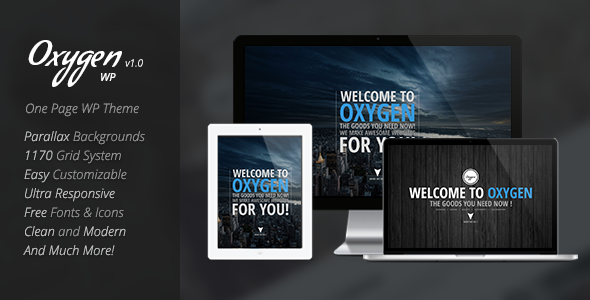 Oxygen – One Page Parallax WordPress Theme