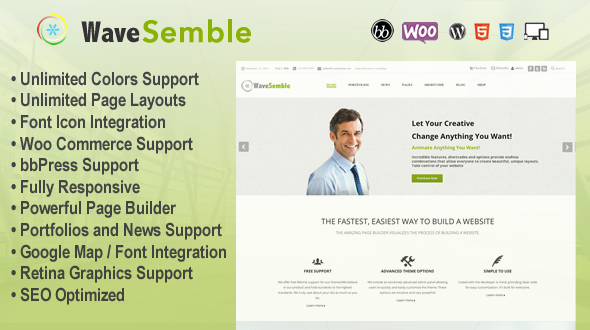 Wave Semble Multi-Purpose Responsive Theme