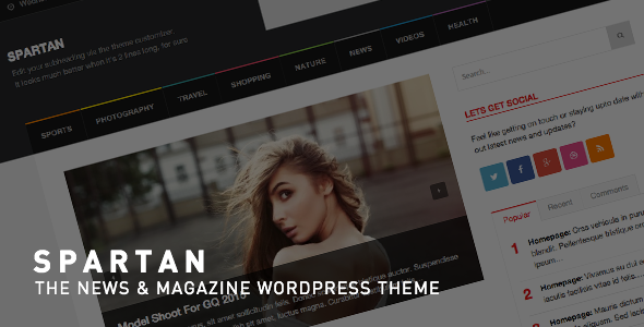 Spartan – News, Blog, Magazine WordPress Theme
