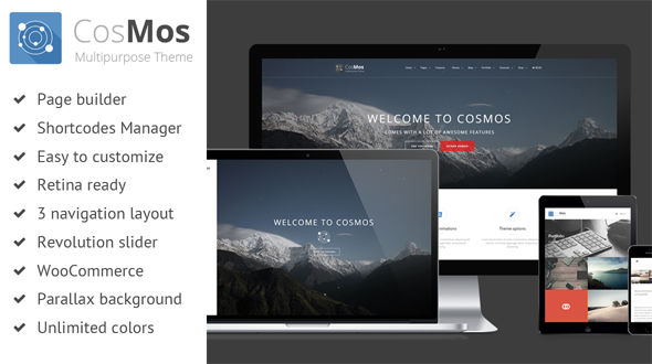 CosMos – Responsive Multi-Purpose Theme