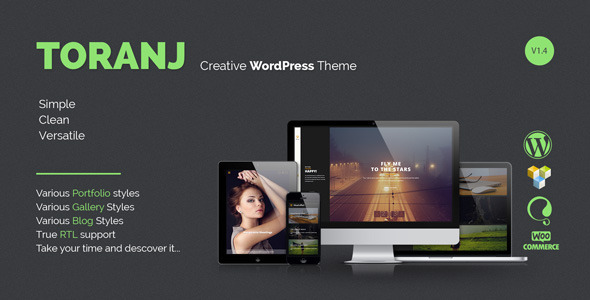 Toranj – Responsive Creative WordPress Theme