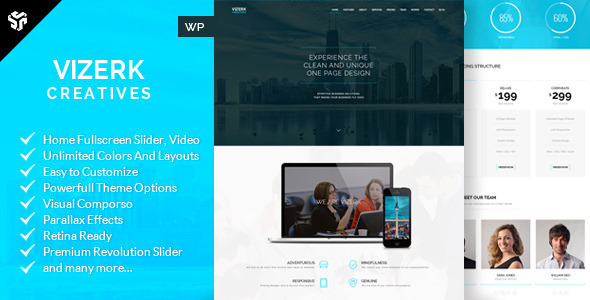 Vizerk – One Page Parallax WordPress Theme